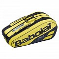 TORBA BABOLAT PURE RACKET HOLDER X9 YELLOW/BLACK