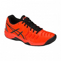 COPATI ASICS GEL RESOLUTION 7 CLAY GS C800Y 801 otroški CHERRY TOMATO/BLACK