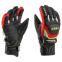 ROKAVICE LEKI RACE COACH FLEX S GTX JUNIOR BLACK-RED-WHITE-YELLOW
