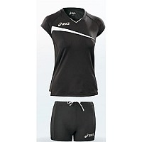 DRES ASICS SET PLAYOFF WOMAN ČRNA